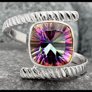 Mystic Topaz 925 Sterling Silver Ring